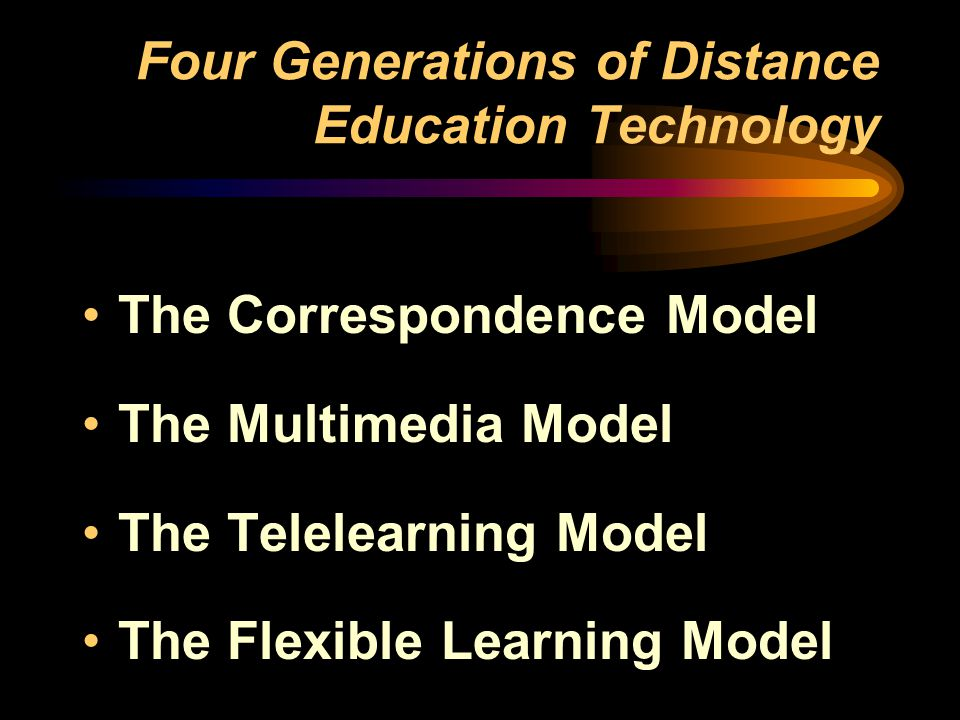 Four Generations of Distance Education Technology
