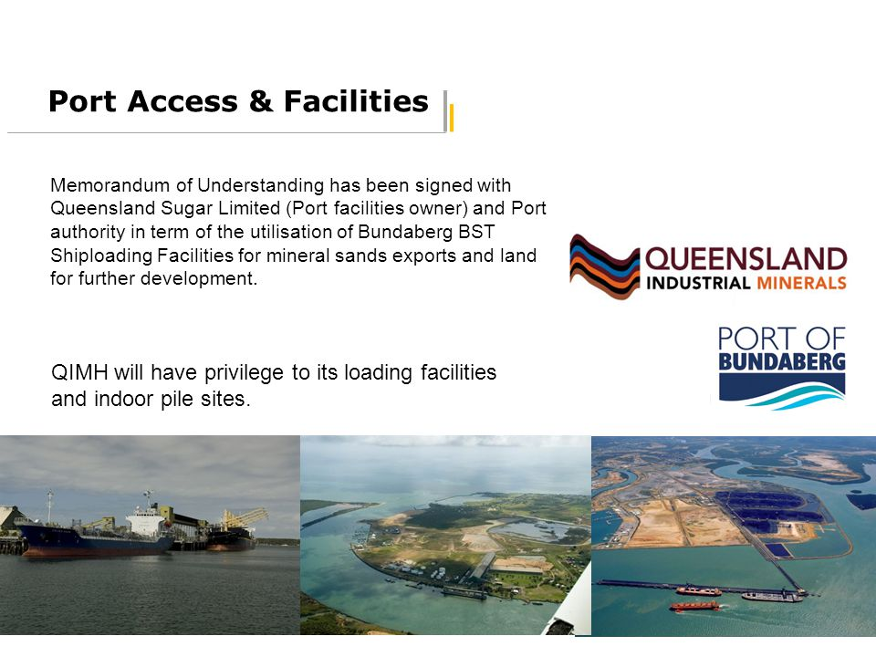 Port Access & Facilities