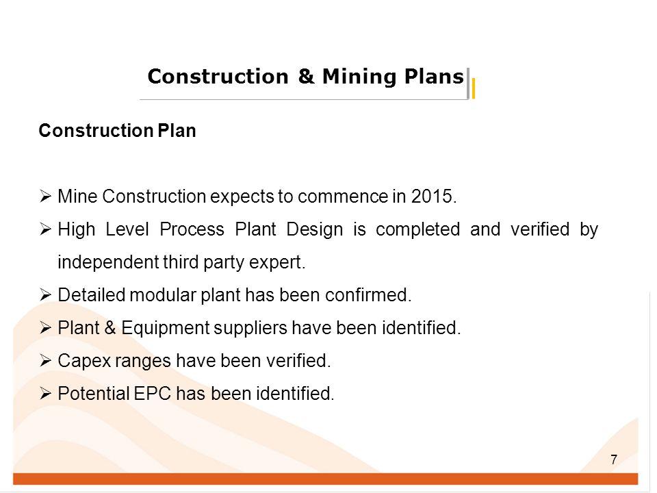 Construction & Mining Plans