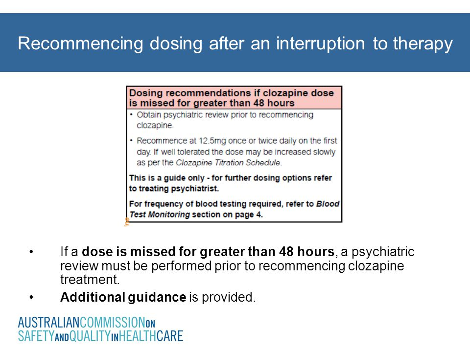 Recommencing dosing after an interruption to therapy