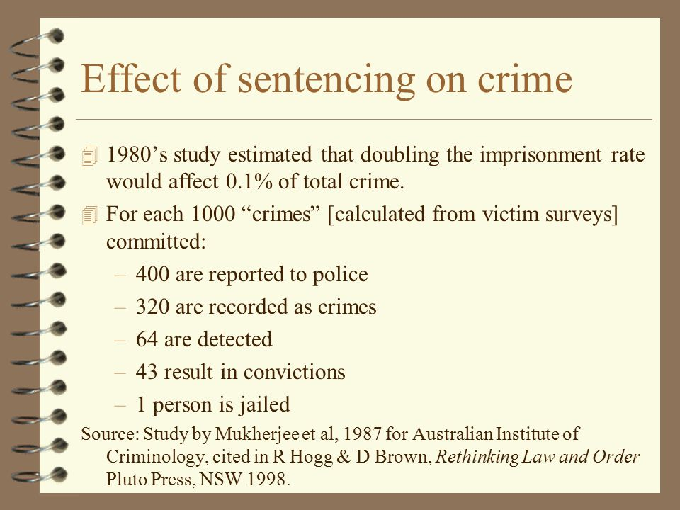 Effect of sentencing on crime