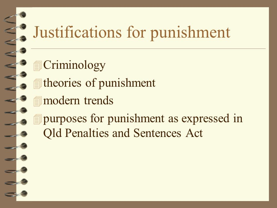 Justifications for punishment