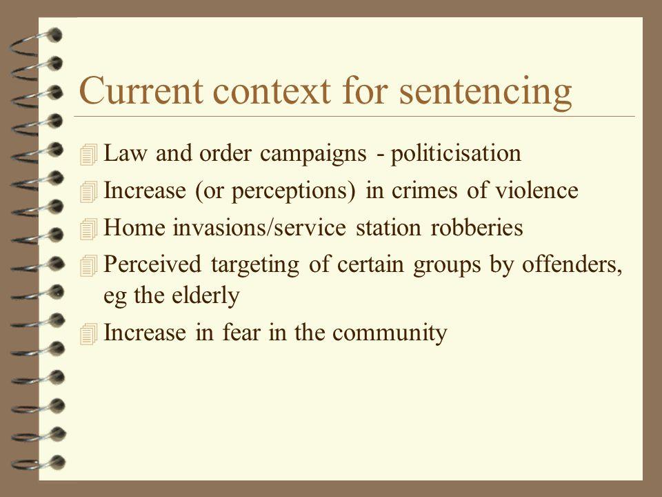 Current context for sentencing