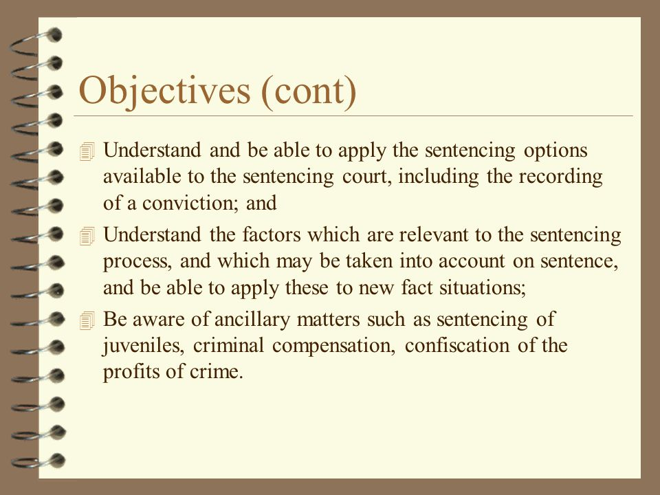Objectives (cont)