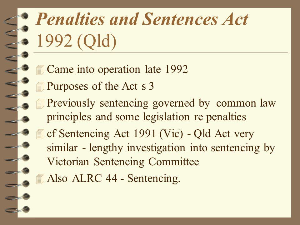 Penalties and Sentences Act 1992 (Qld)