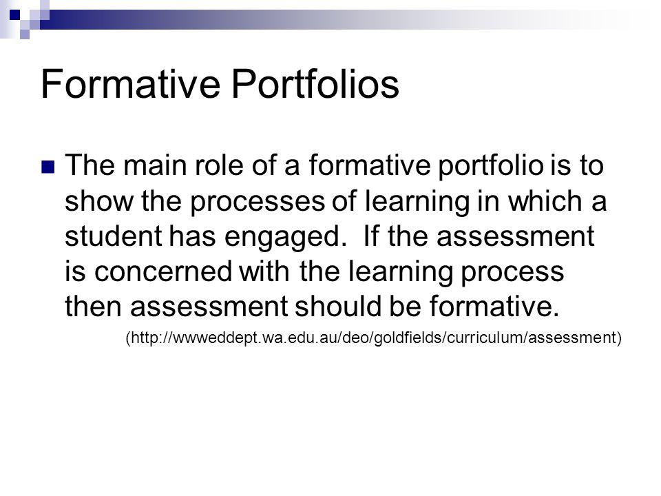Formative Portfolios