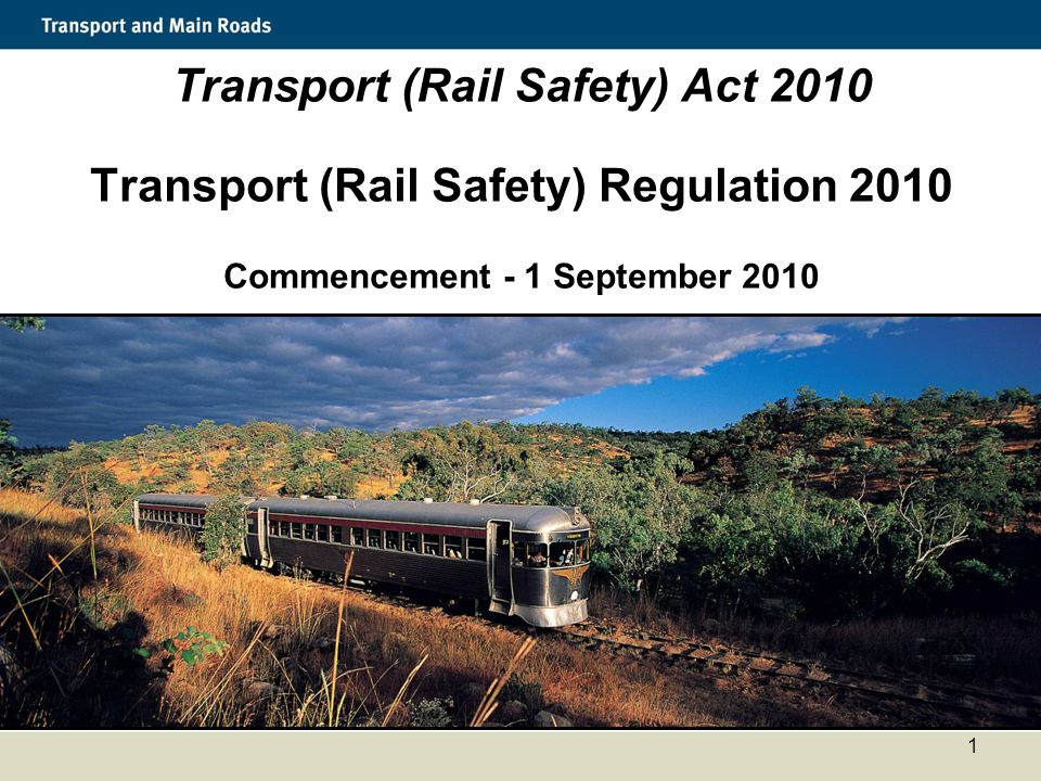 Transport (Rail Safety) Act 2010