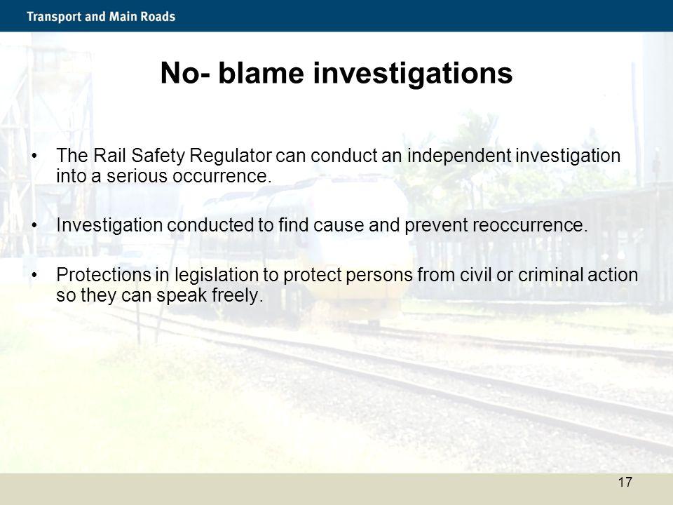 No- blame investigations