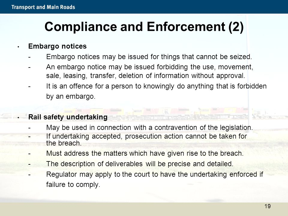 Compliance and Enforcement (2)