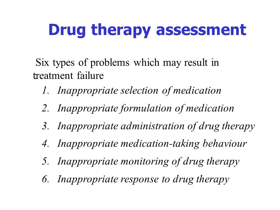 Drug therapy assessment