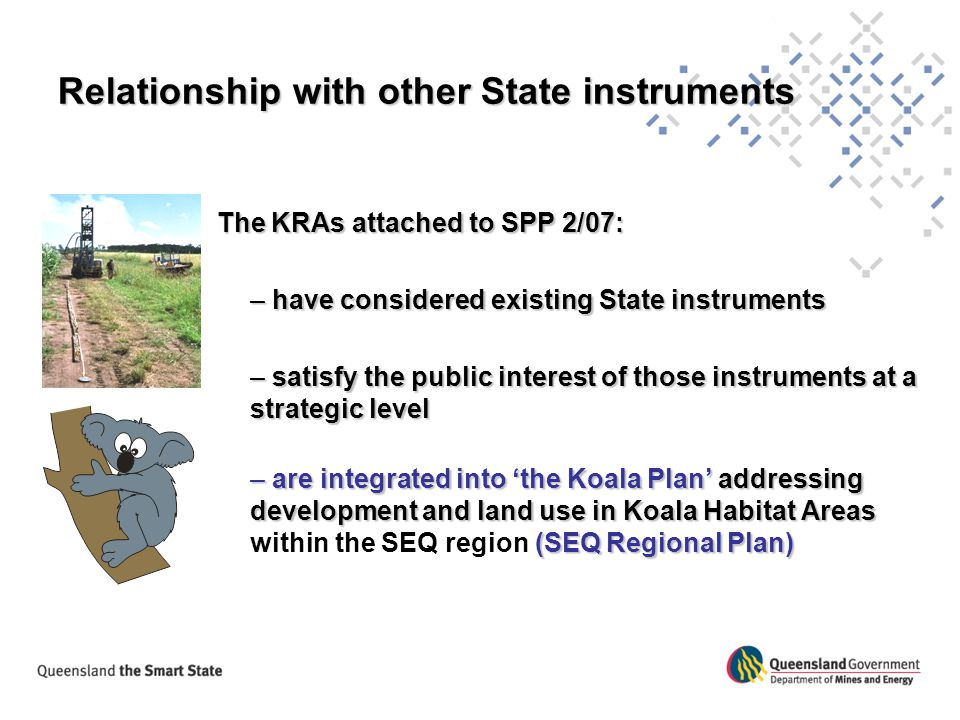Relationship with other State instruments