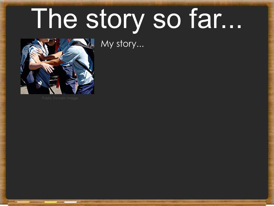 The story so far... My story... Public Domain Image
