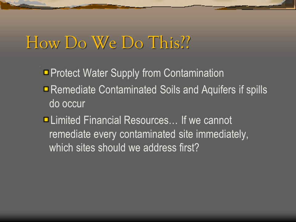 How Do We Do This Protect Water Supply from Contamination