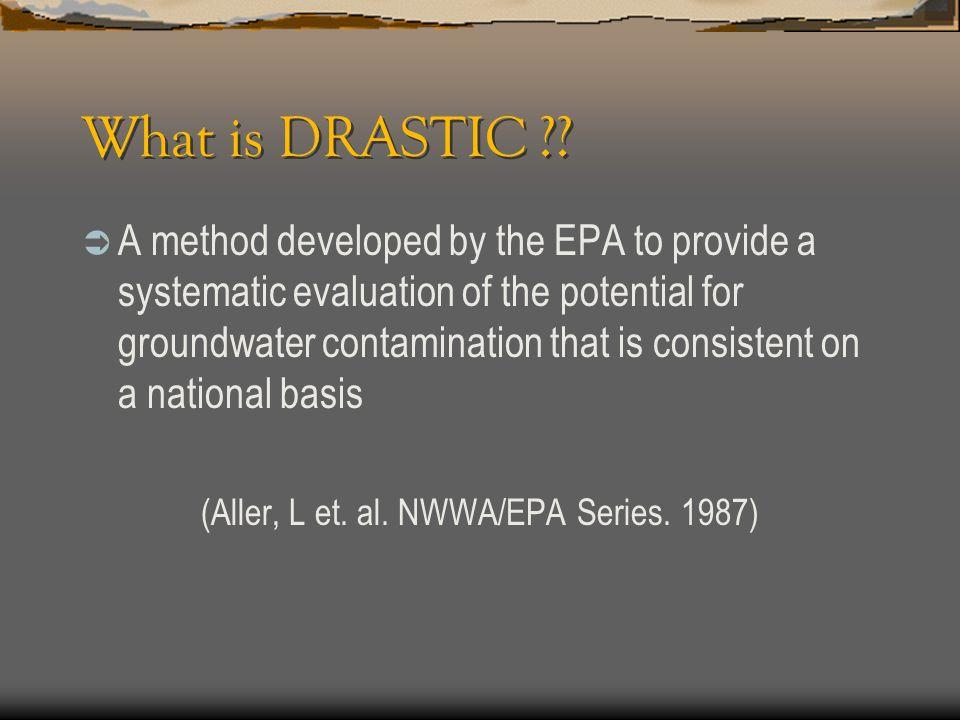 (Aller, L et. al. NWWA/EPA Series. 1987)