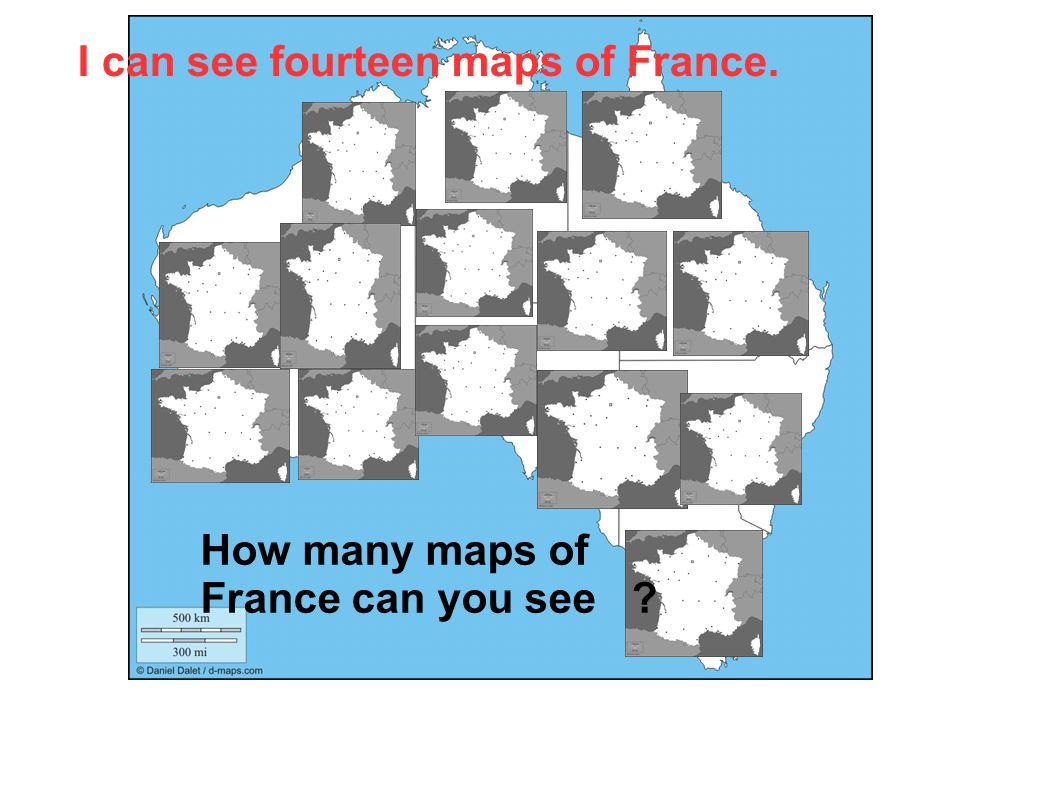 I can see fourteen maps of France.