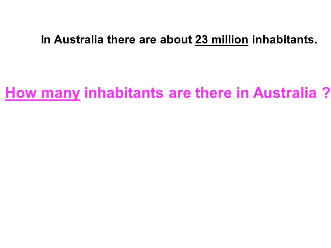 How many inhabitants are there in Australia