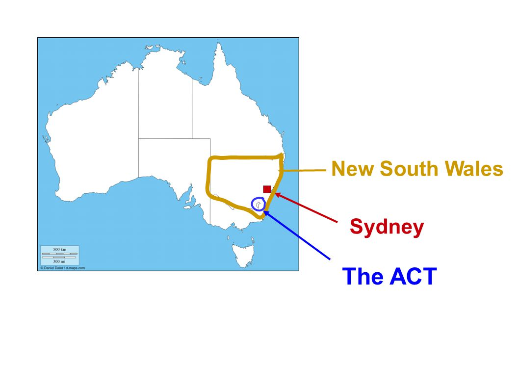 New South Wales Sydney The ACT