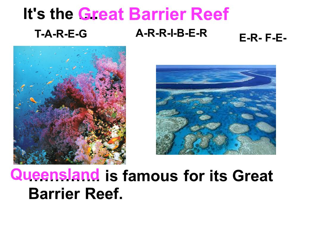 Great Barrier Reef It s the ….. Queensland