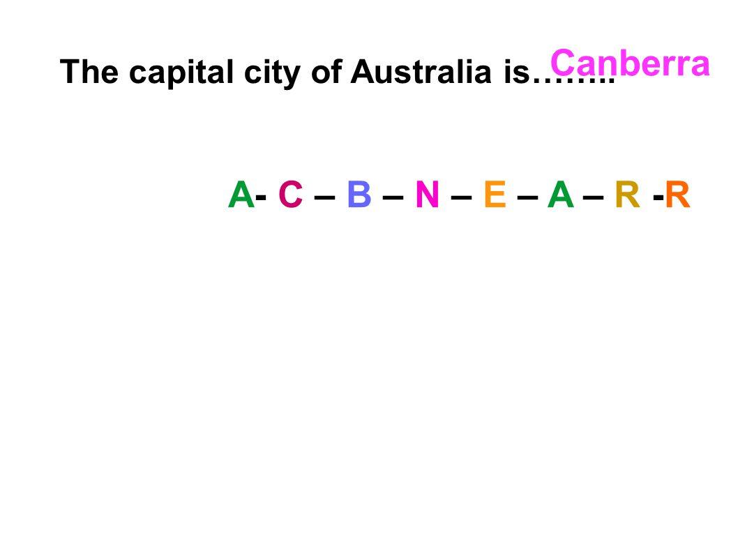 Canberra A- C – B – N – E – A – R -R