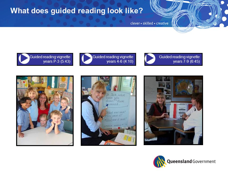    What does guided reading look like Guided reading vignette