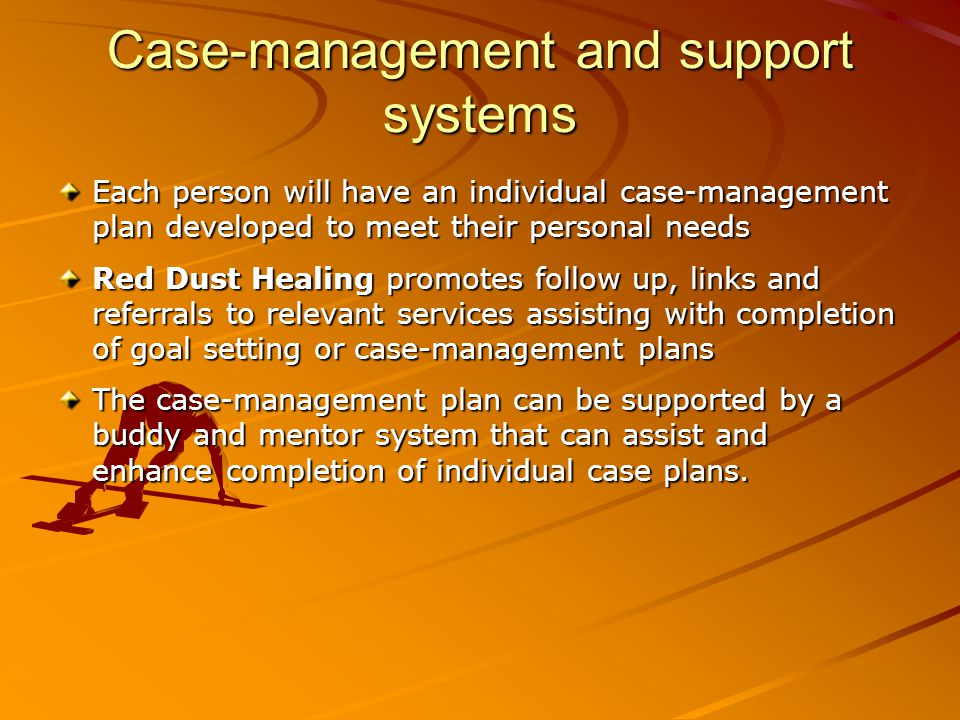Case-management and support systems