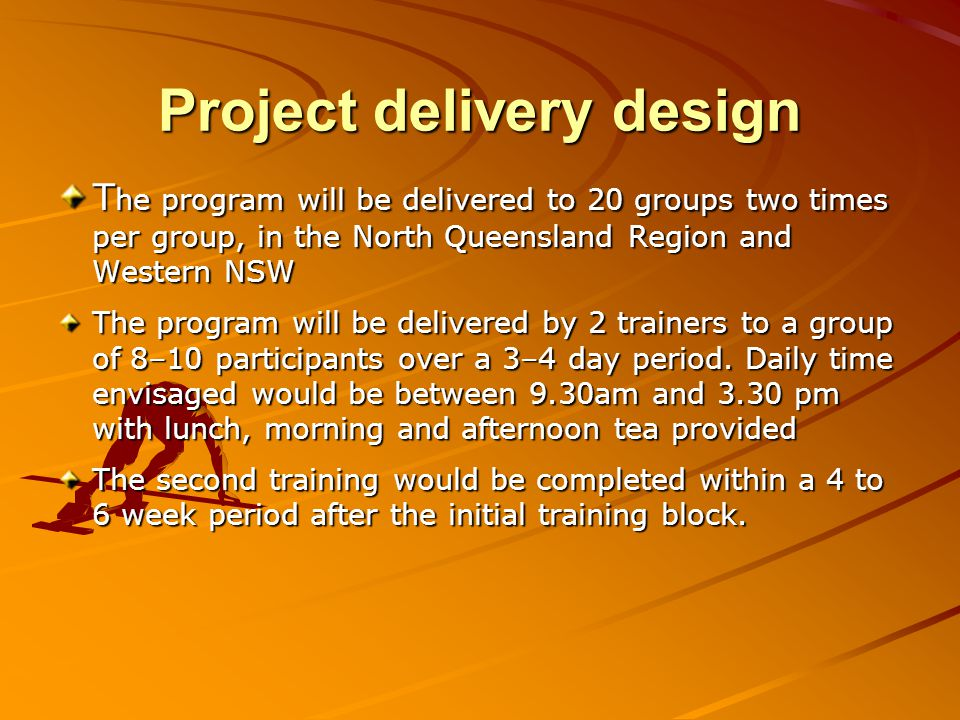 Project delivery design