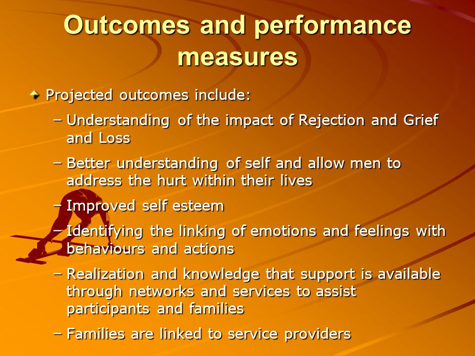 Outcomes and performance measures