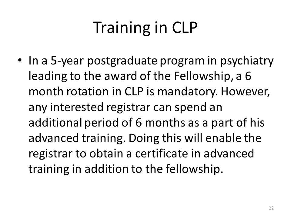Training in CLP