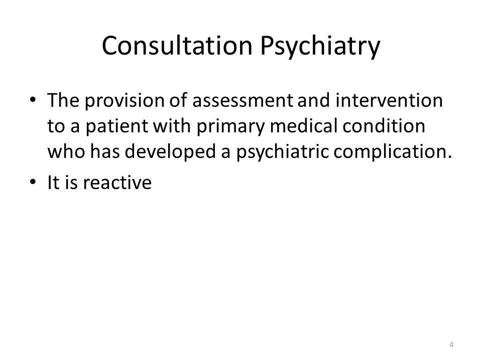 Consultation Psychiatry
