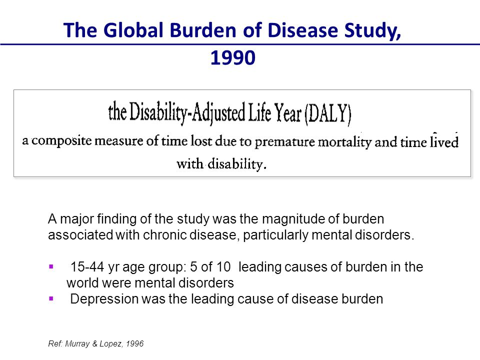The Global Burden of Disease Study, 1990