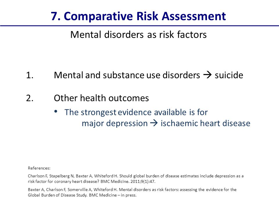 7. Comparative Risk Assessment