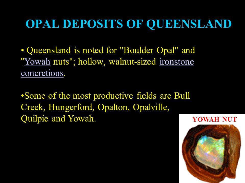 OPAL DEPOSITS OF QUEENSLAND