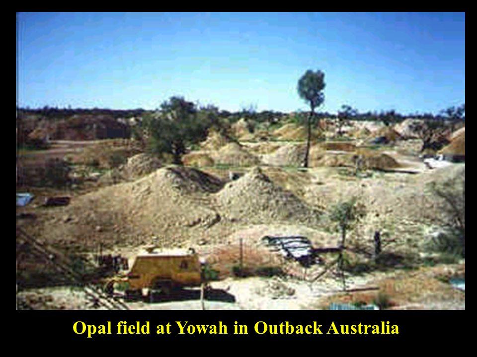 Opal field at Yowah in Outback Australia