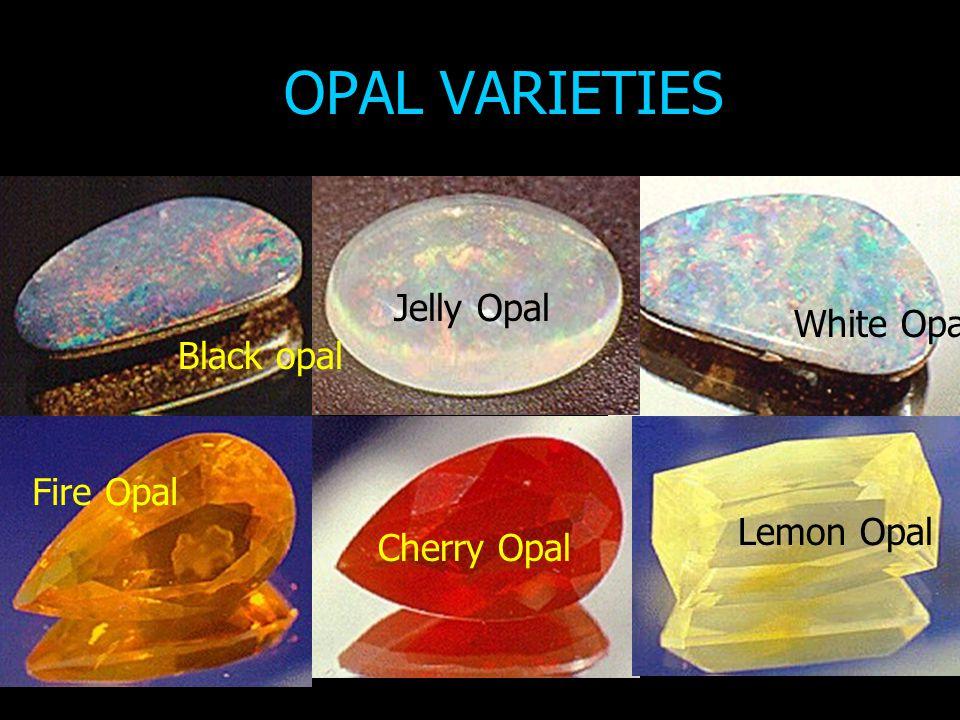 OPAL VARIETIES Jelly Opal White Opal Black opal Fire Opal Lemon Opal