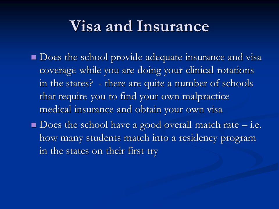 Visa and Insurance