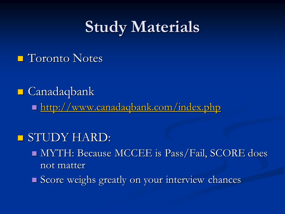 Study Materials Toronto Notes Canadaqbank STUDY HARD: