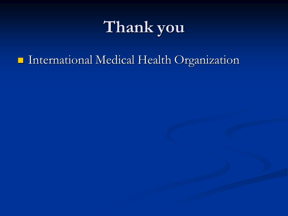 Thank you International Medical Health Organization