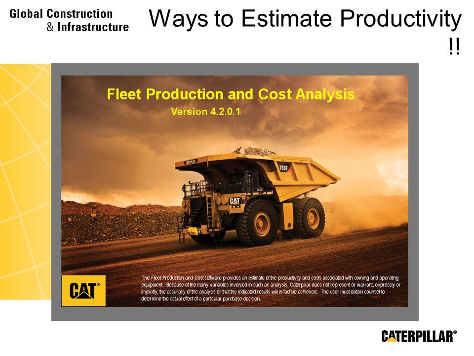 Ways to Estimate Productivity !!