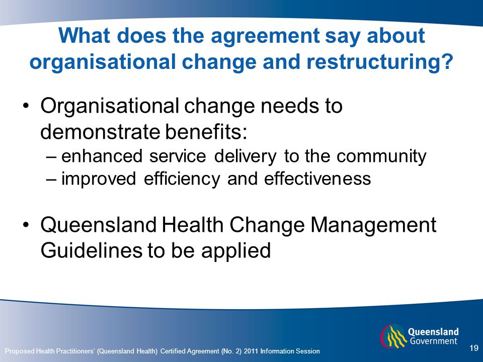 Organisational change needs to demonstrate benefits: