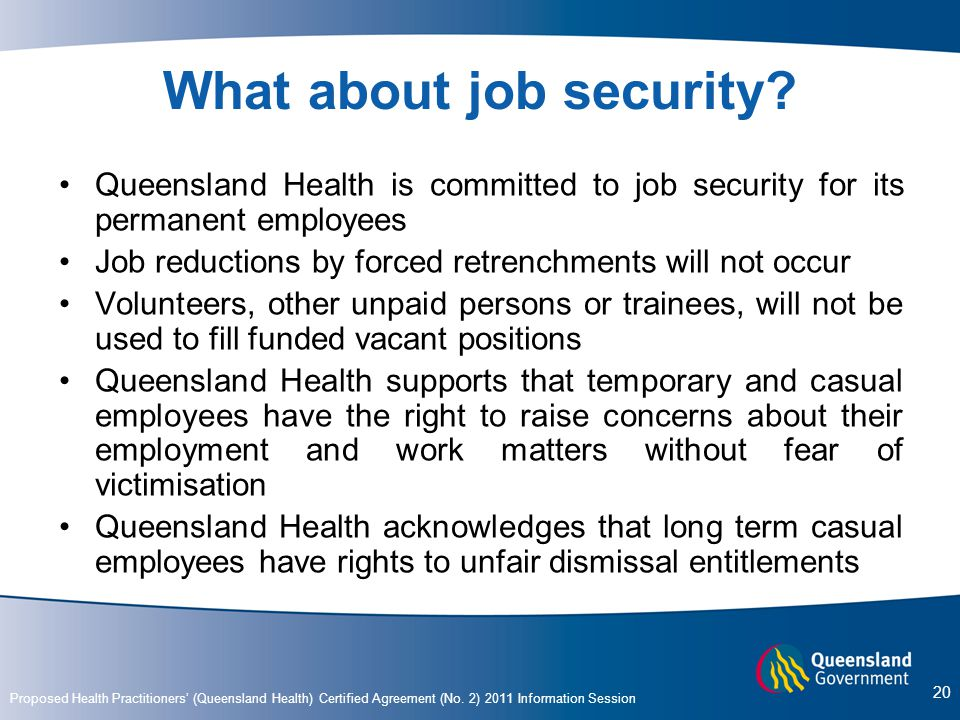 What about job security