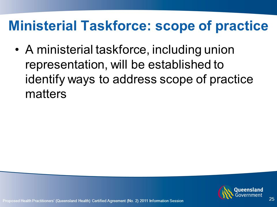 Ministerial Taskforce: scope of practice