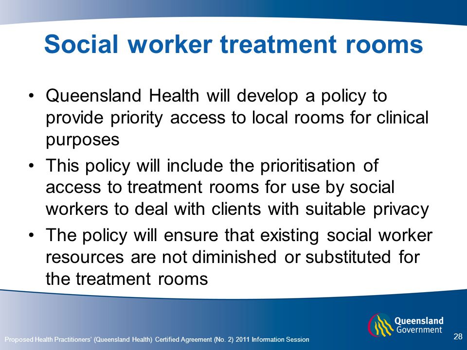Social worker treatment rooms