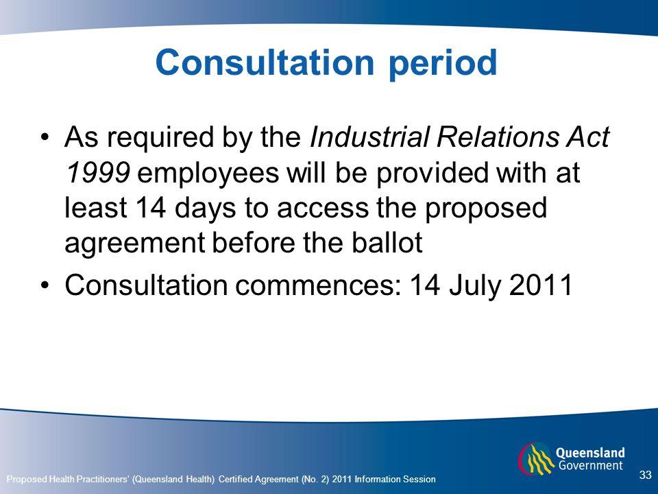 Consultation period
