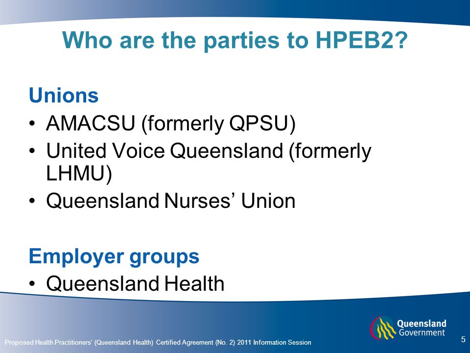 Who are the parties to HPEB2