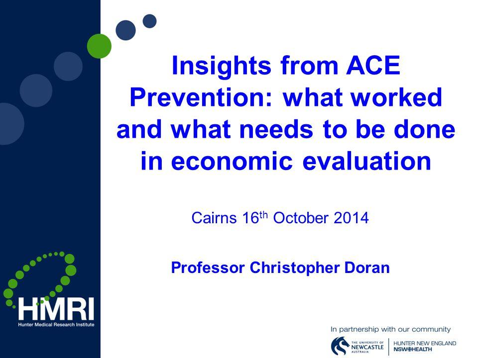 Cairns 16th October 2014 Professor Christopher Doran