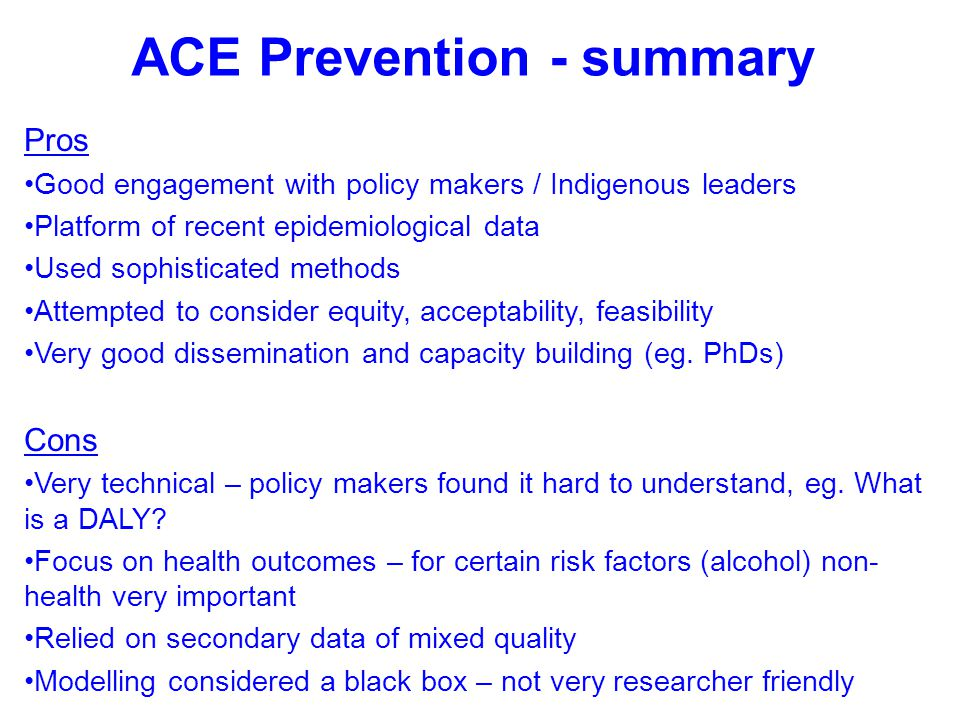 ACE Prevention - summary
