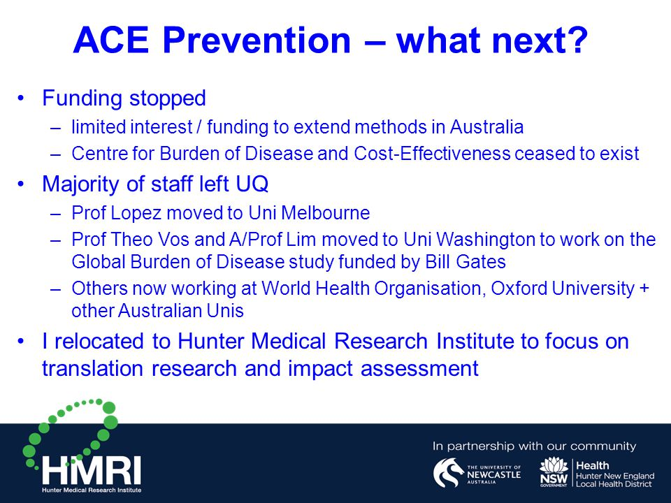 ACE Prevention – what next