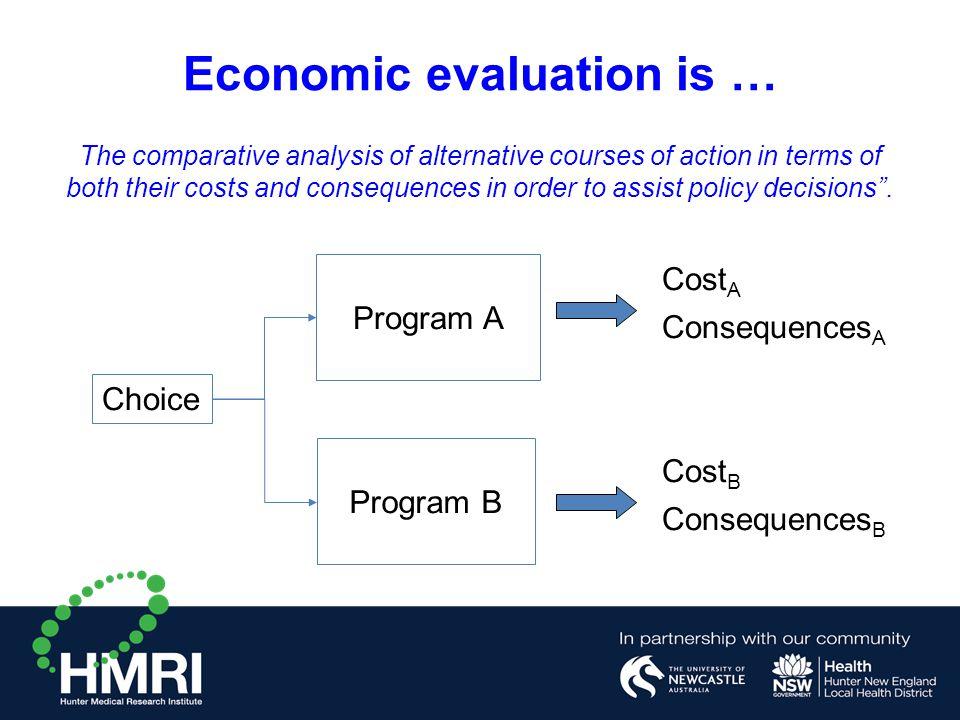 Economic evaluation is …