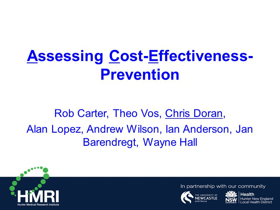Assessing Cost-Effectiveness-Prevention