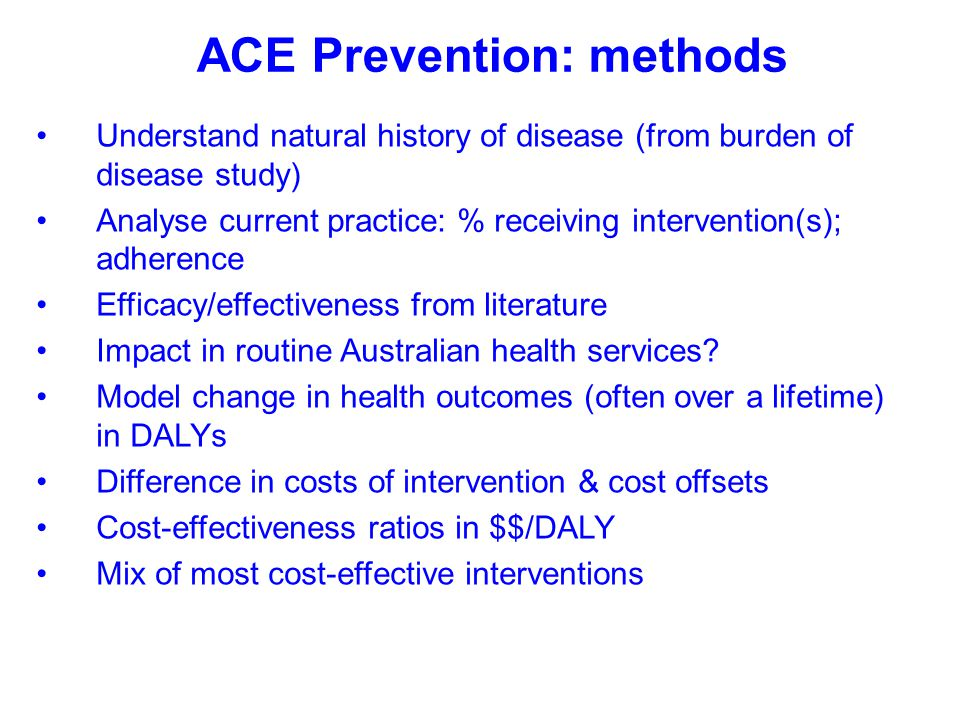 ACE Prevention: methods